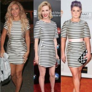 Topshop Blue White Stripe Dress